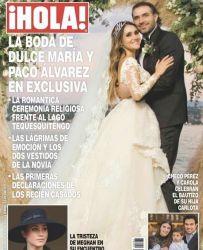 Revista Hola casamento Dulce Maria