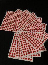 Cartela completa adesivo Estrelinha Rebelde - Vermelha 140 unidades